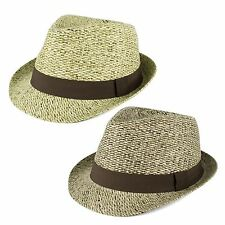 Trilby Hat with Brown Grosgrain Band