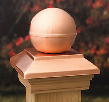 VC9 Post Cap Victoria Real Ball Copper  Western Red Cedar - suit 90-94mm post