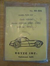NEW NOS Carburetor Rebuild Kit Honda Civic CVCC 1975 Royze HI-8K Keihin KE-1K