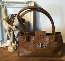 ostrich leather, vintage  bag made in Italy