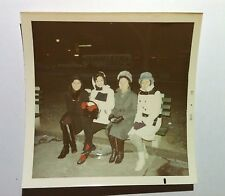 Vintage 70s PHOTO Retro Asian Family Visiting America Long Boot Winter Coat Hats
