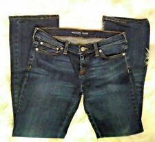 Michael Kors Dark Wash  Jeans Size 27 Low Rise 8 in Boot Cut inseam 30 in [o]