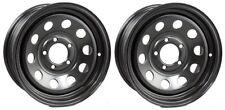 "2-Pack Trailer Wheel Black Rims 15 x 5 Modular Style (5 Lug On 4.5"")"