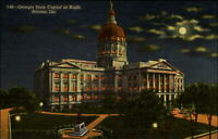 Georgia State Capitol night Atlanta full moon Confederate monument Gen JB Gordon