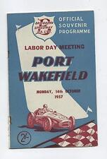 1957 Port Wakefield Labor Day Programme Racing Touring Sports Motorcycle Car