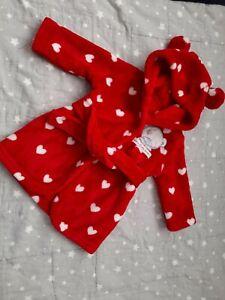 George Baby Girls Tatty Teddy Dressing Gown 0-3 Months BNWOT