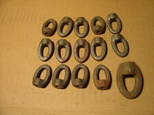 """14 CAST IRON CLEVIS HANGING BRACKETS AND ONE 1/2""""  NEW NEVER USED"""