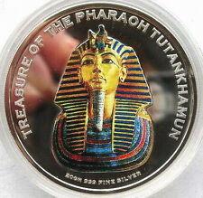 Cambodia 2004 Tutankhamun 3000 Riels Colour Silver Coin,Proof