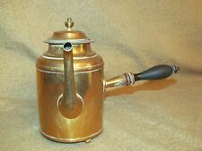 Early American Antique Brass Teapot Signed