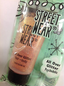 REVLON STREET WEAR - ALL OVER GLITTER FOR BODY & HAIR - PSYCHEDELIC NEW