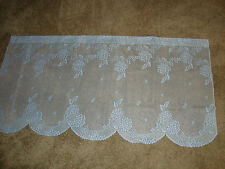 Lace Window Tier Blue Hydrangea design 30Lx 62