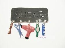 HAIRDRESSER'S SHEAR BROOCH Hair Dryer Scissors Comb Mirror