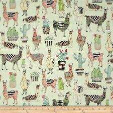 Michael Miller Fabric CX7297 Cotton Fabric Llamas, Alpaca on Mint  By The Yard!