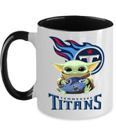 TITANS Yoda Coffee Mug, Tennessee TITANS Black Two Toned Coffee Mug Gift