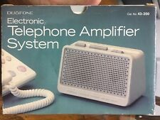 Duofone Telephone Amplifier System Model 43-200 Vintage new .