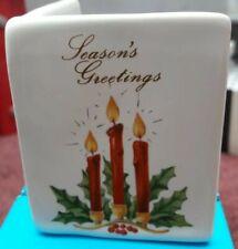 "Philip Laureston England China ""Season's Greetings""  Card/Ornament app 6.5 x 5cm"