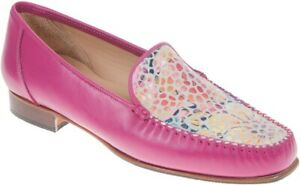 HB Shoes Style 201 Moccasin - Fuchsia