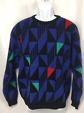 Vintage Sweater Gary Reed Geometric Men's L Large Colorful