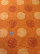 100% Cotton Quilting Craft Andover Fabric Lonni Rossi 4318 Orange Floral Spot