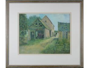 Terry Whittaker - Farming / Tractor / Barn - Original Painting Signed Art