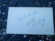 #MISC-3374 - 3x5 index card - signed auto - HOCKEY - ROD SEILING