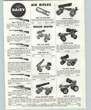 1957 PAPER AD Daisy Air Rifle BB Gun Red Ryder Eagle