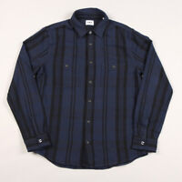 Edwin Labour Flannel Shirt - Navy/Black Garment Wash
