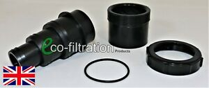 """REMOVEABLE 50MM 3 STEPPED HOSETAIL FROM 2""""/56MM RIGID PIPE KOI FISH POND FILTER"""