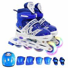 Flashing Inline Skates for Kids Teens 12J-5 Size Adjustable Roller Skates Gifts