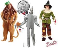 Wizard of Oz Barbie Dolls Set: Scarecrow, Tin Man, Cowardly Lion (New In Boxes!)