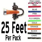 25 Feet - PINK CAMO - RELEASE BOWSTRING NOCK NOCKING D LOOP ROPE Archery Bow