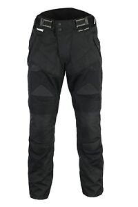 BUSA Bikers Gear Air Mesh Motorcycle Trousers CE Armour Remove Waterproof Liner