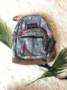 New JanSport Right Pack Backpack Chambray Sweet Blossom Travel School Leather