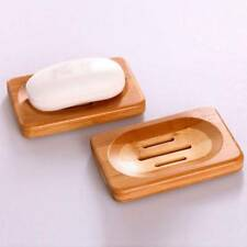 Natural Bamboo Wooden Soap Dish Soap Tray Holder Bath Shower Soap Rack Plate Box