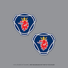 SKU2115-deux scania griffin logo autocollants 68mm x 65mm
