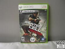 Tom Clancy's Splinter Cell: Conviction  (Xbox 360, 2010) No Instructions