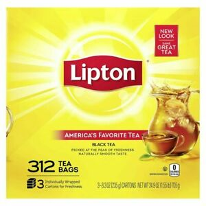 Lipton Tea Bags For A Naturally Smooth Taste Black 312 Count (Pack of 1)