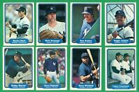 1982 FLEER NEW YORK YANKEES    TEAM SET NM/MT  REGGIE  WINFIELD   RIGHETTI RC