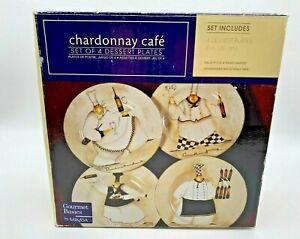 "Gourmet Basics by Mikasa Chardonnay Café Chefs - Set of 4 Dessert Plates 8"""