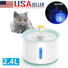 Automatic Electric 2.4L Pet Water Fountain Dog Cat Drinking Bowl with Filter Us