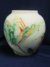 "Vintage Nemadji Pottery Stoneware Urn Vase Jar 8"" Decor"