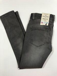 River Island Mens New Grey Super Skinny Danny Denim Jeans Sz W28 L30 BNWT