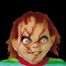 Evil Chucky Head Mask Halloween Cosplay Party Ghost Puppet Costume Theater Prop