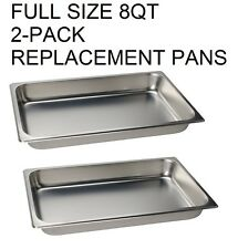 FULL Size CHAFER PAN 2 PACK CATERING HOTEL CHAFING DISH 8QT PANS free shipping