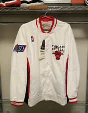 Mitchell & Ness 1996-97 MICHAEL JORDAN Chicago Bulls Warm Up Jacket White / Sz L