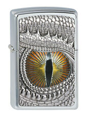 Zippo en TU MECHERO dragon eye m. emblema High polished Chrome dragón ojo nuevo embalaje original