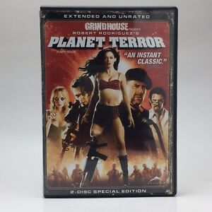2007 Planet Terror Grindhouse Robert Rodriguez Movie DVD Weinstein Unrated E241