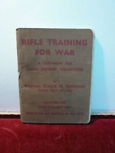 Original WW2 Home guard ' Rifle training for war ' Local defence volunteers book