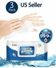 Pack Of 3 Sanitizing All-Purpose Disinfectant Wipes Kills 99.9% Germs