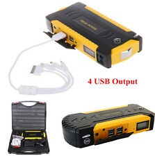 12V 82800mAh 4USB Car Jump Starter Emergency Portable Charger Battery Power Bank